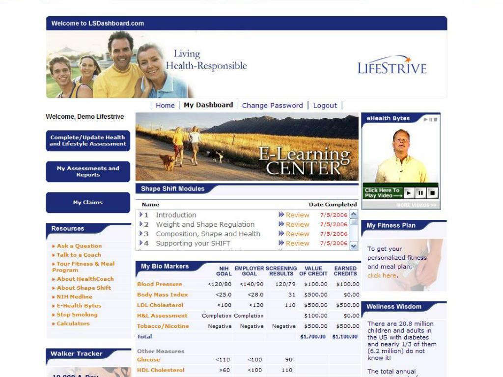 Employee Wellness Dashboard Example