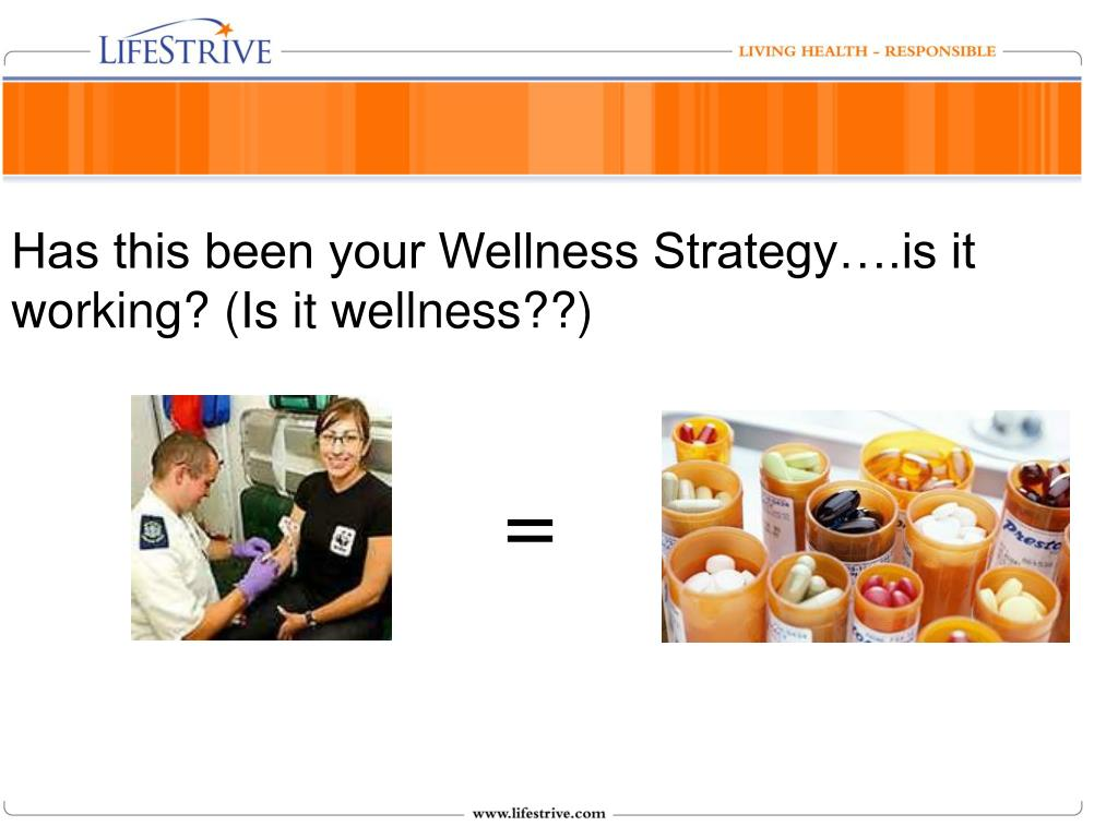 Has this been your Wellness Strategy….is it working? (Is it wellness??)