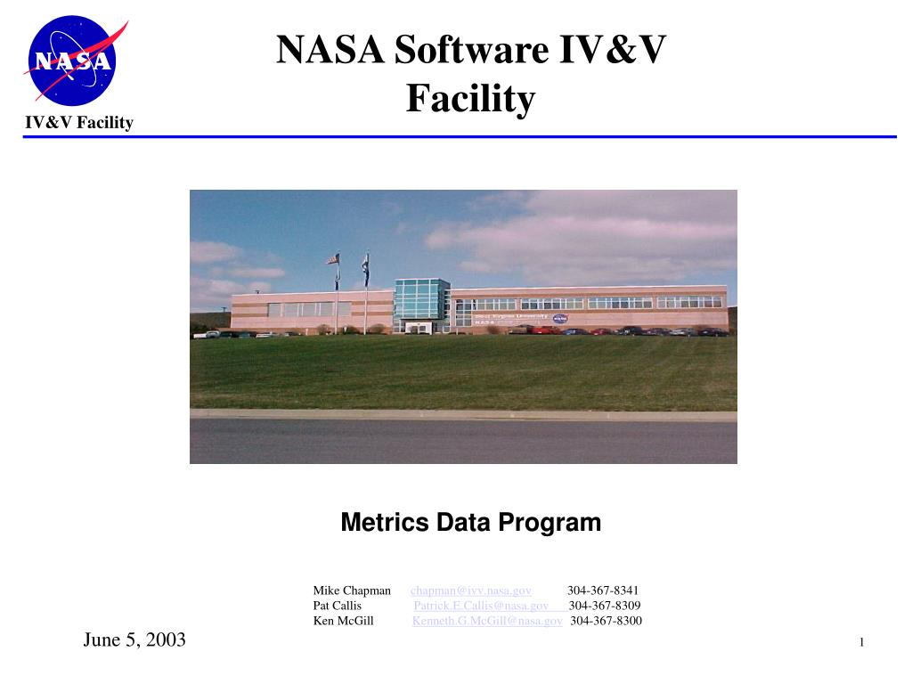 nasa software iv v facility l.