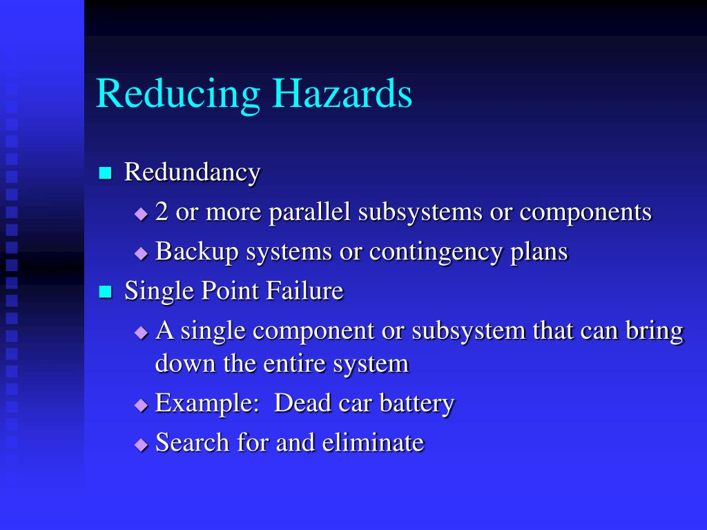 Reducing Hazards