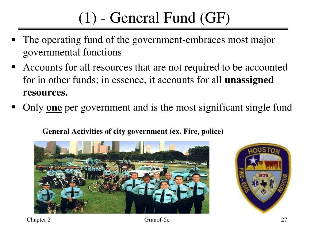 (1) - General Fund (GF)