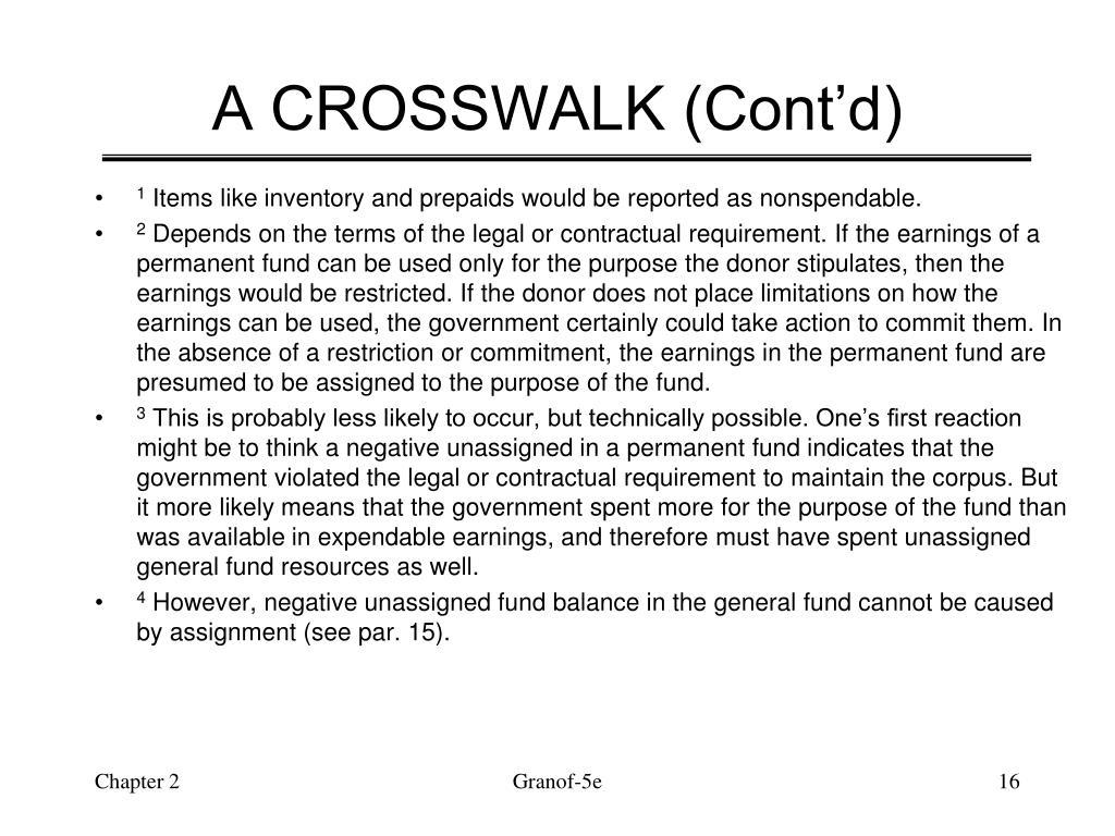 A CROSSWALK (Cont'd)