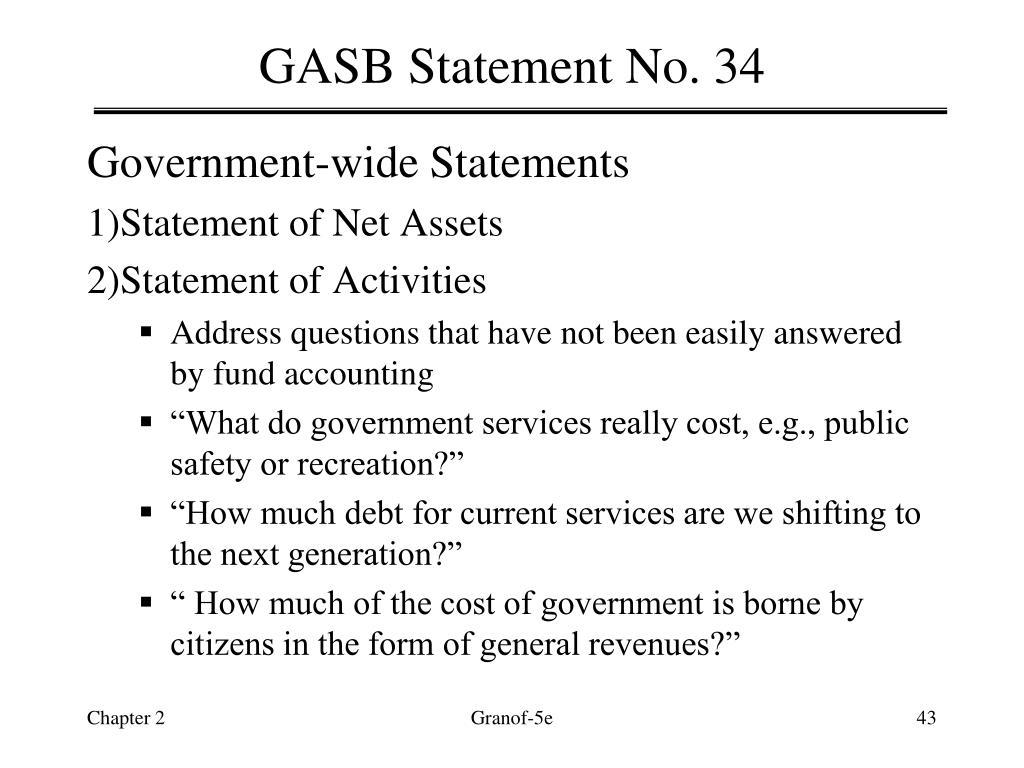 GASB Statement No. 34