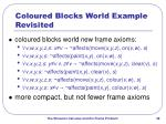 coloured blocks world example revisited