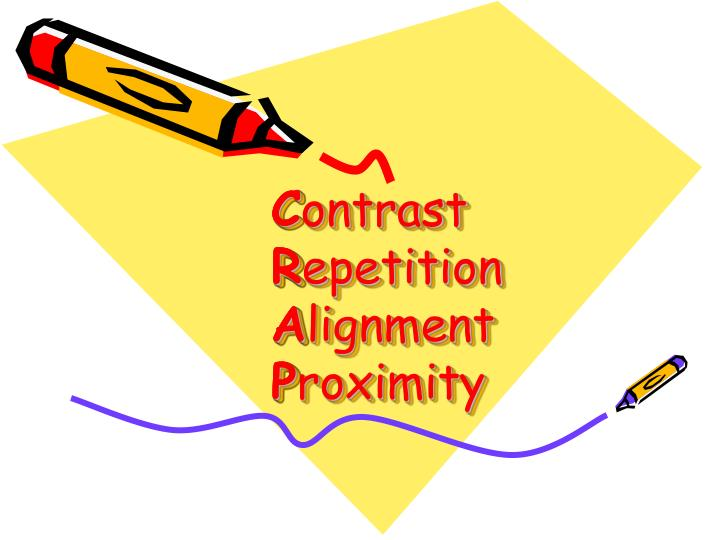 C ontrast r epetition a lignment p roximity
