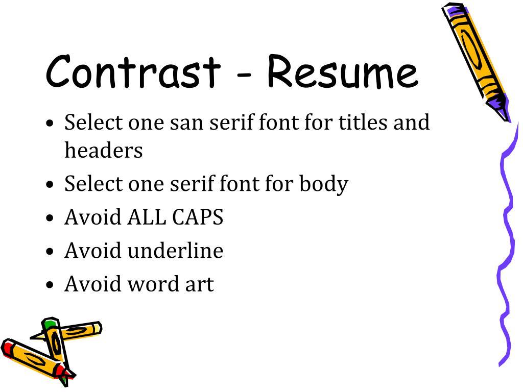 Contrast - Resume