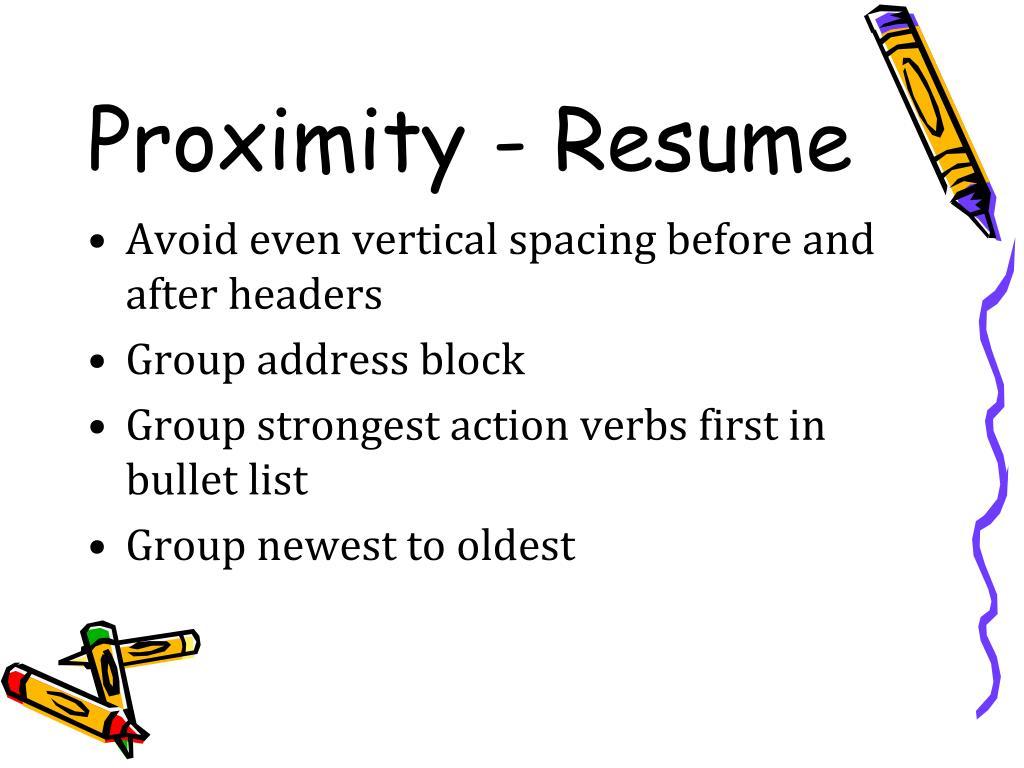 Proximity - Resume