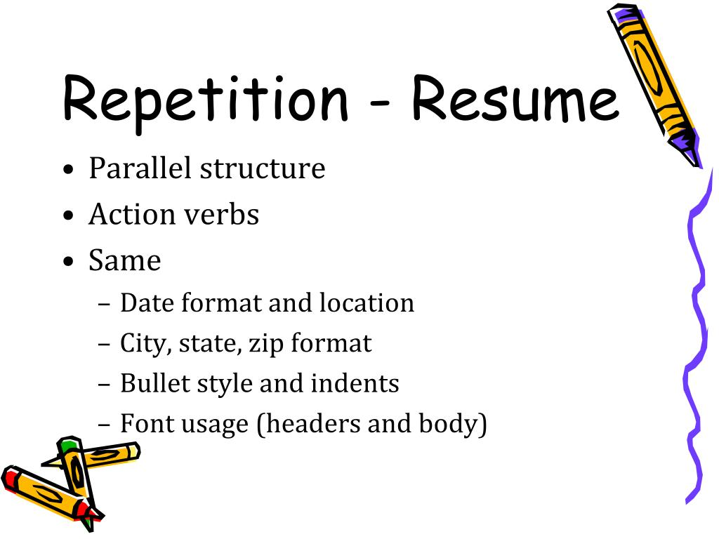 Repetition - Resume