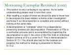 motivating exemplar revisited cont21