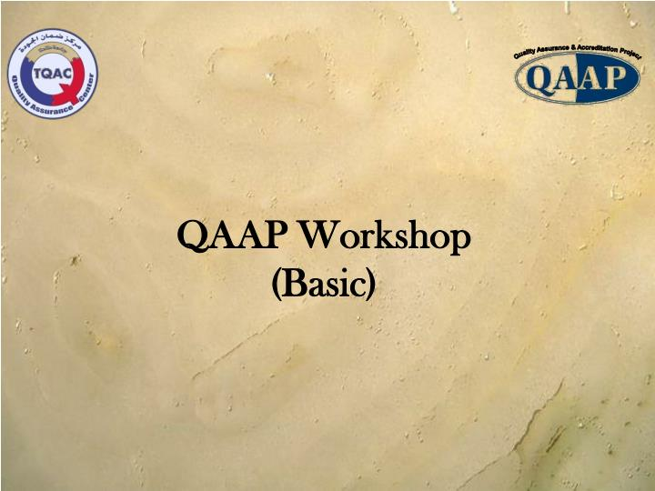 Quality Assurance & Accreditation Project