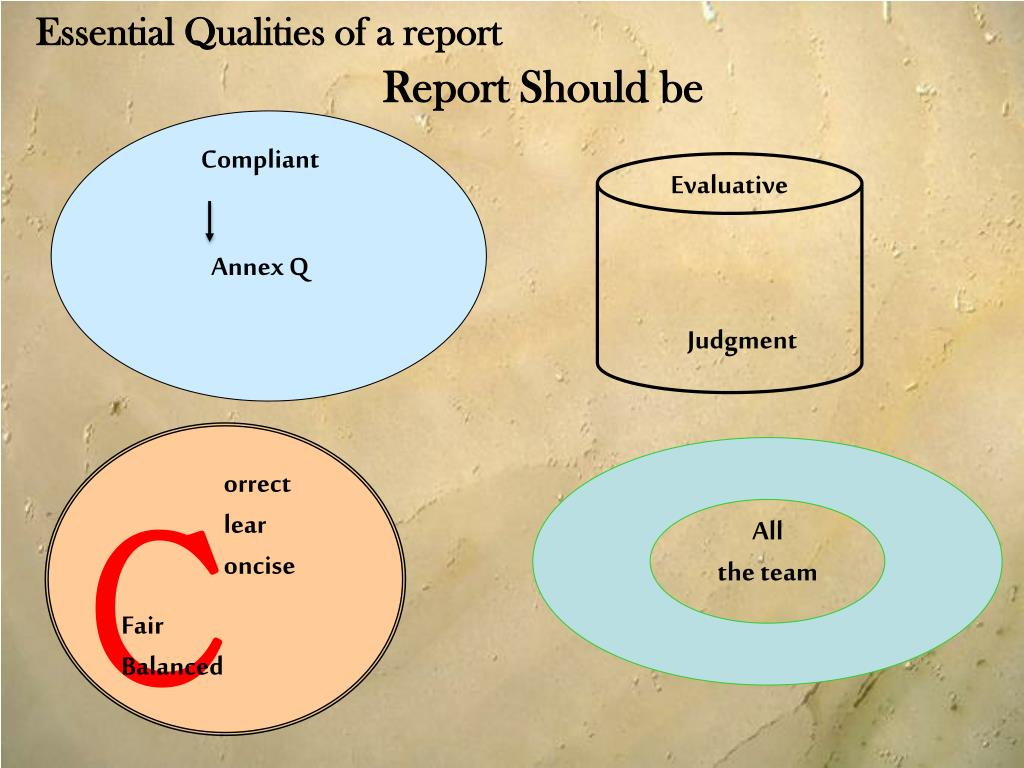 Essential Qualities of a report