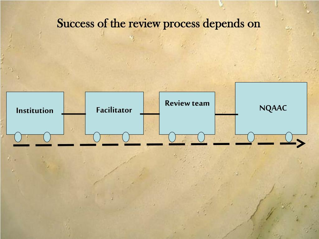 Success of the review process depends on
