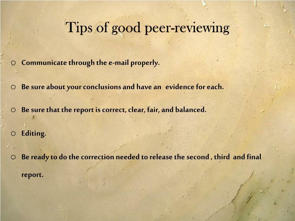 Tips of good peer-reviewing