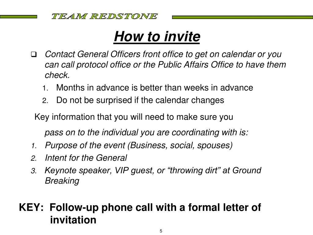 How to invite