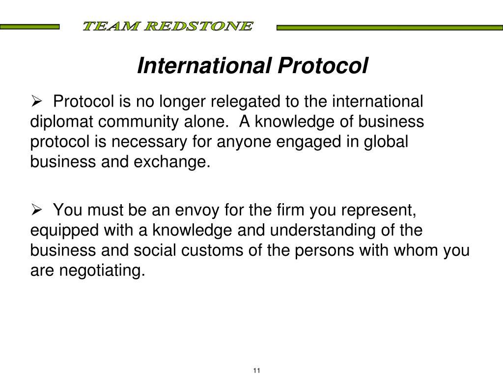 International Protocol