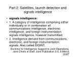 part 2 satellites launch detection and signals intelligence