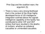 pine gap and the coalition wars the argument 5