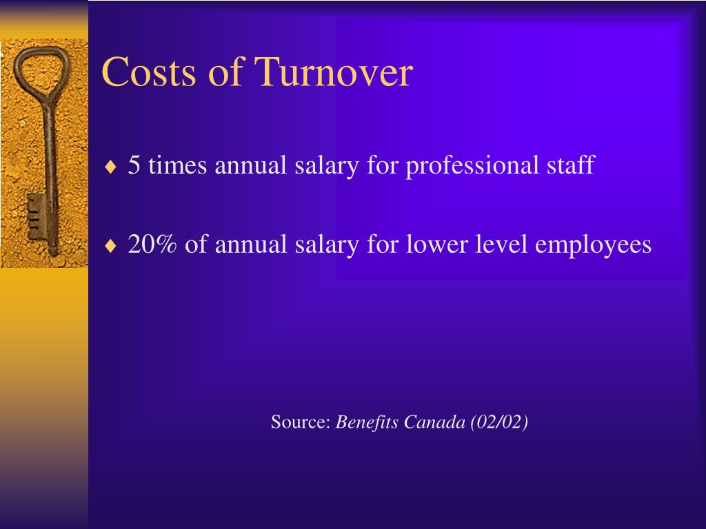 Costs of Turnover