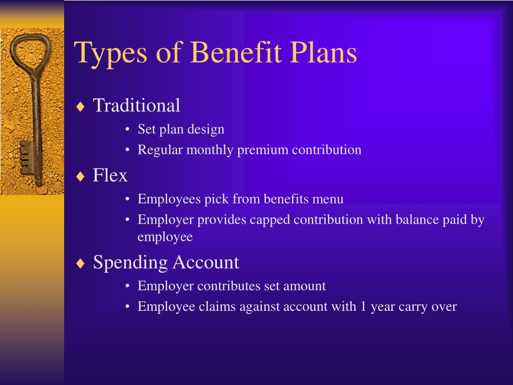 Types of Benefit Plans