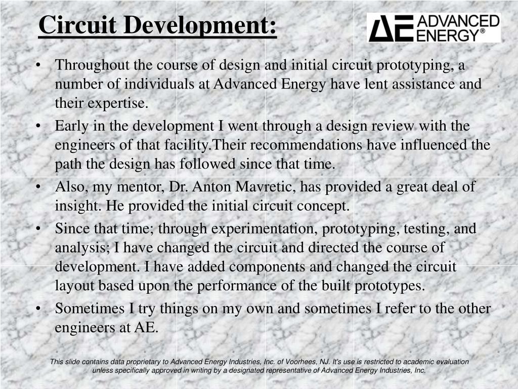 Circuit Development: