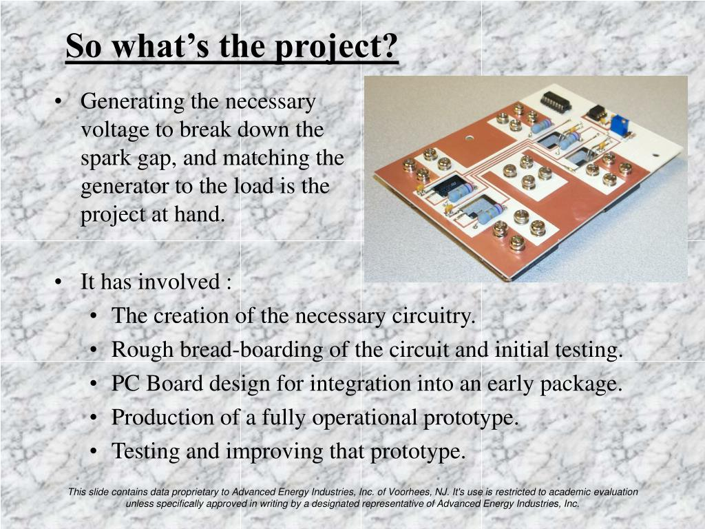 So what's the project?