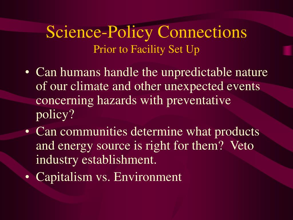 Science-Policy Connections