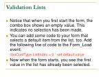 validation lists15