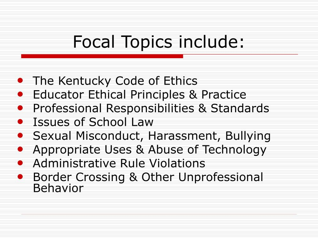 Focal Topics include: