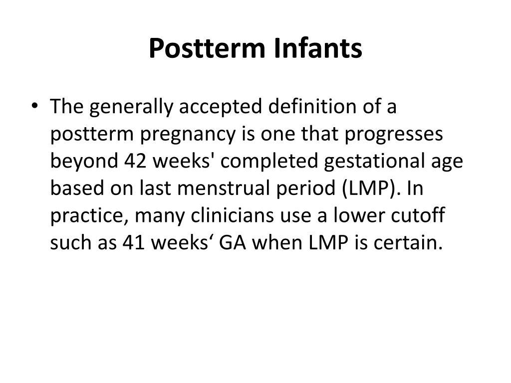 Postterm Infants