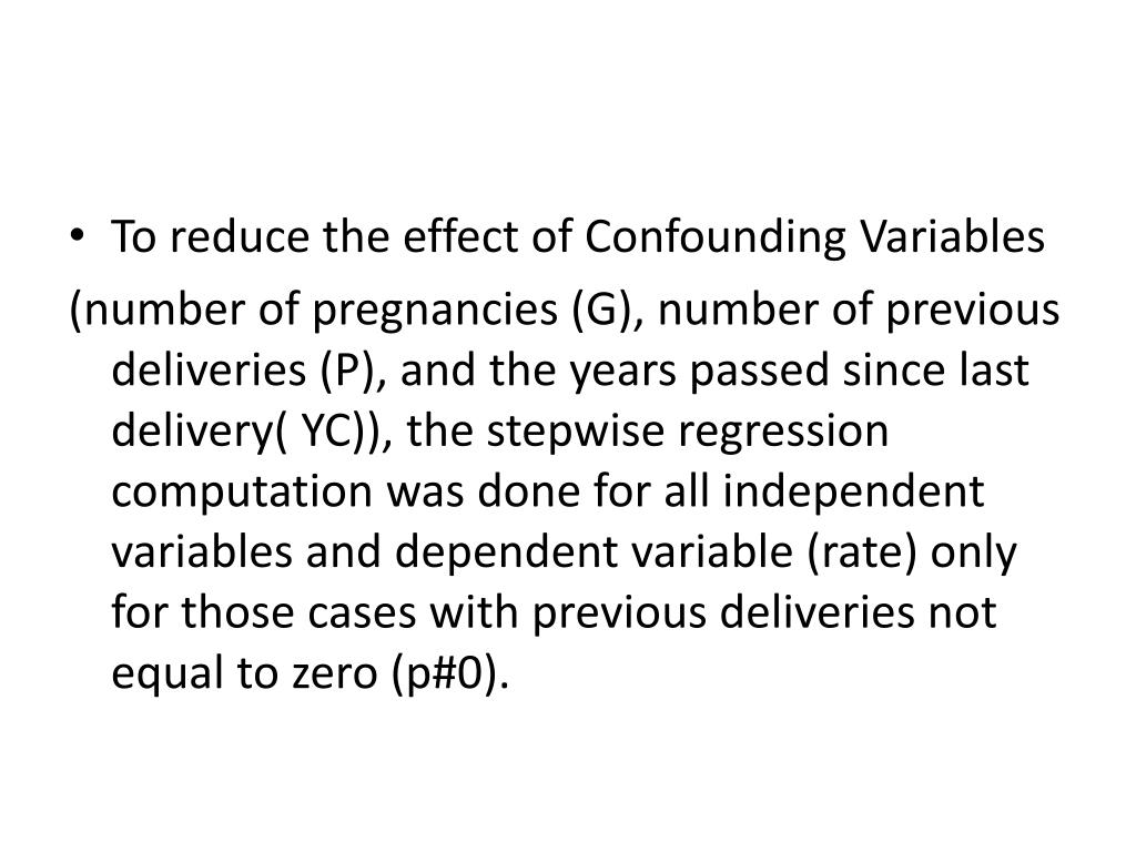 To reduce the effect of Confounding Variables