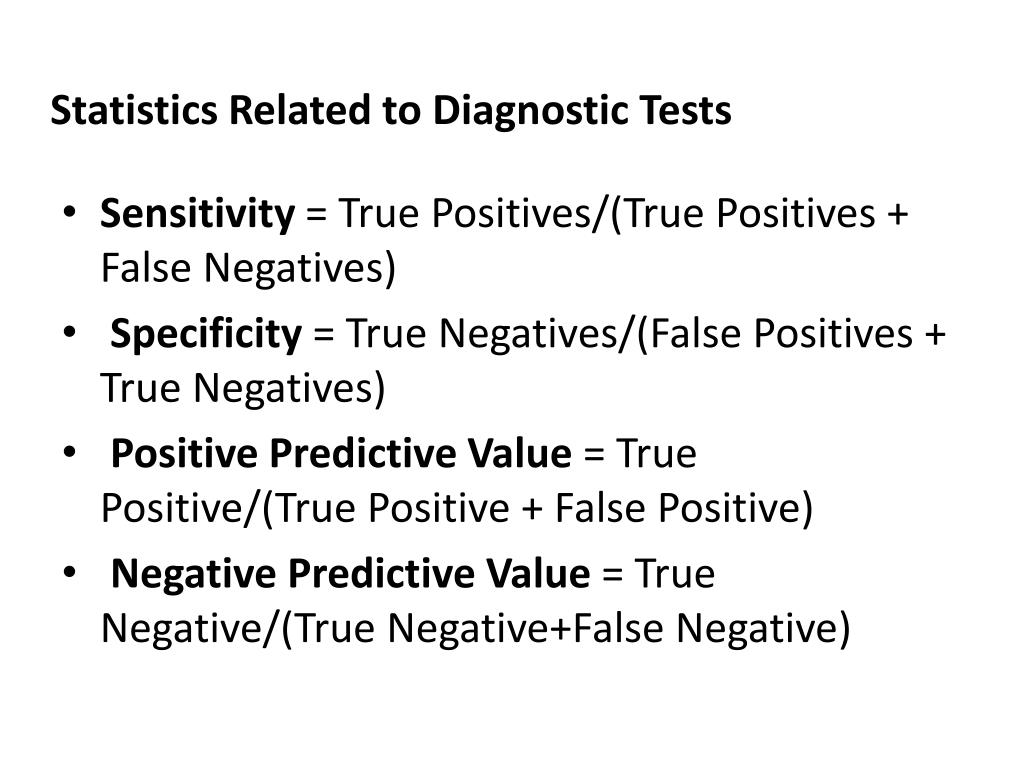 Statistics Related to Diagnostic Tests