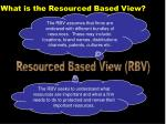 what is the resourced based view