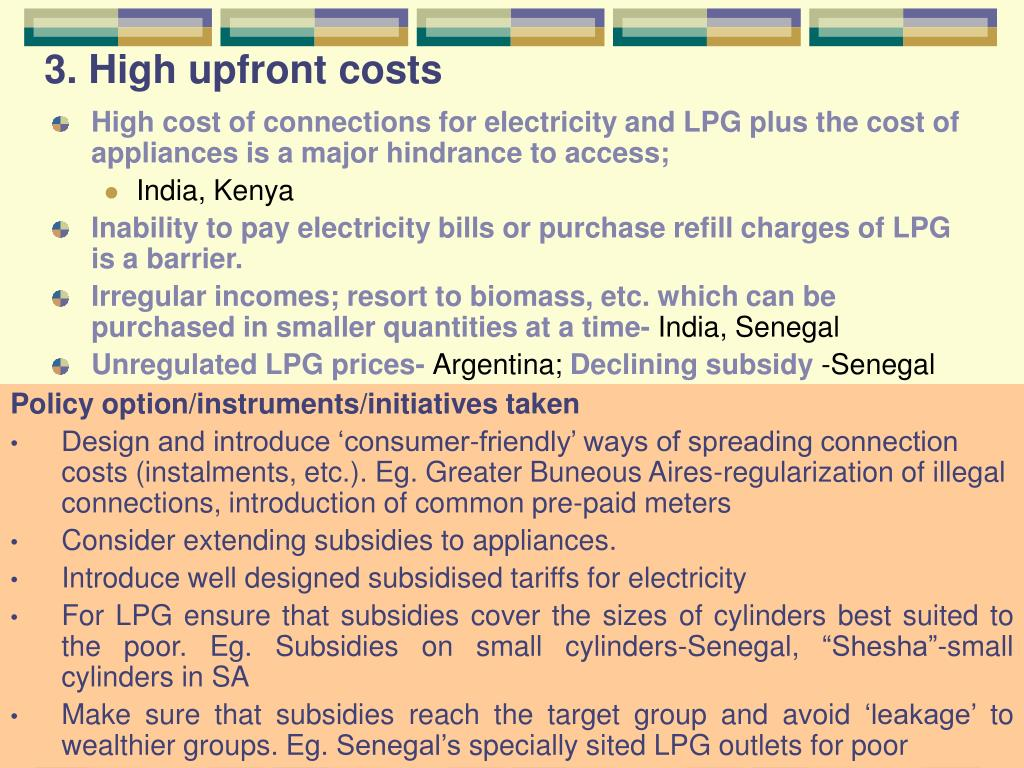 3. High upfront costs