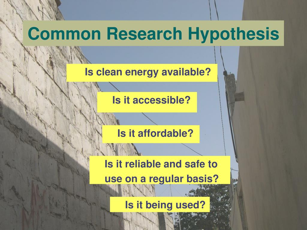 Common Research Hypothesis