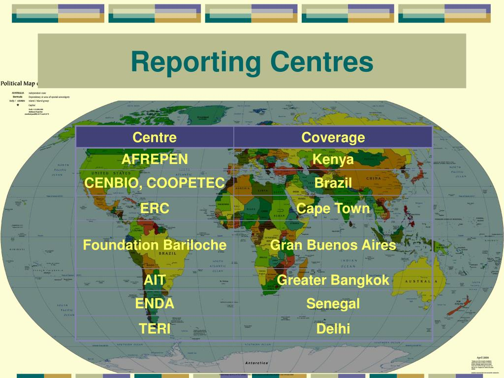 Reporting Centres