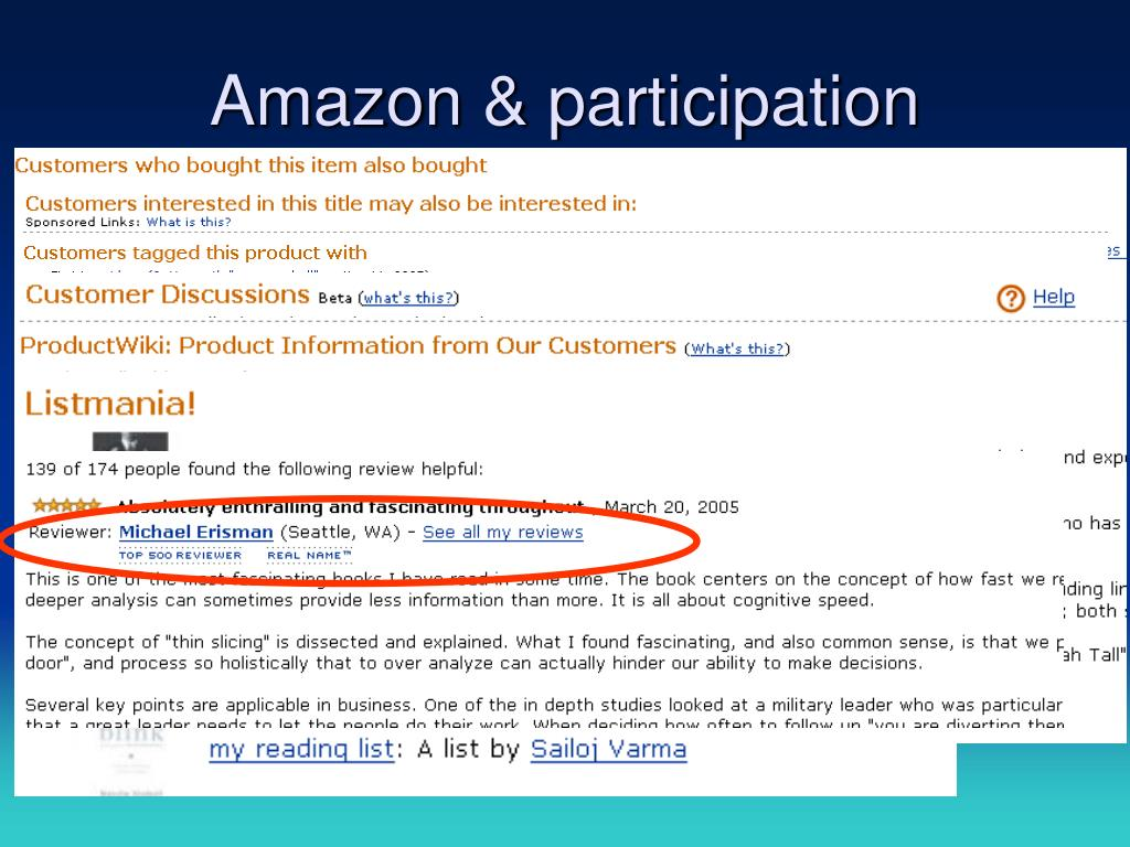 Amazon & participation