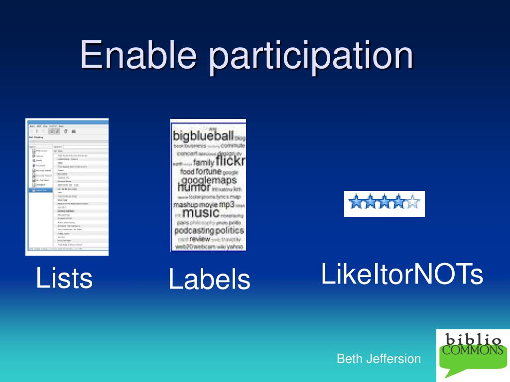 Enable participation