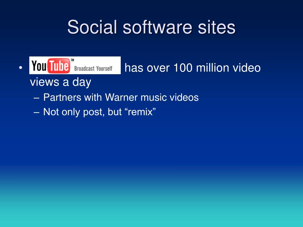 Social software sites