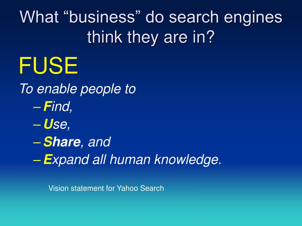 "What ""business"" do search engines think they are in?"
