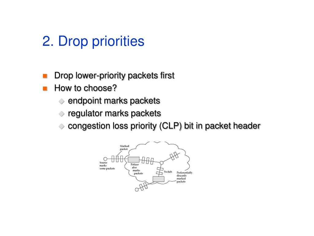 2. Drop priorities