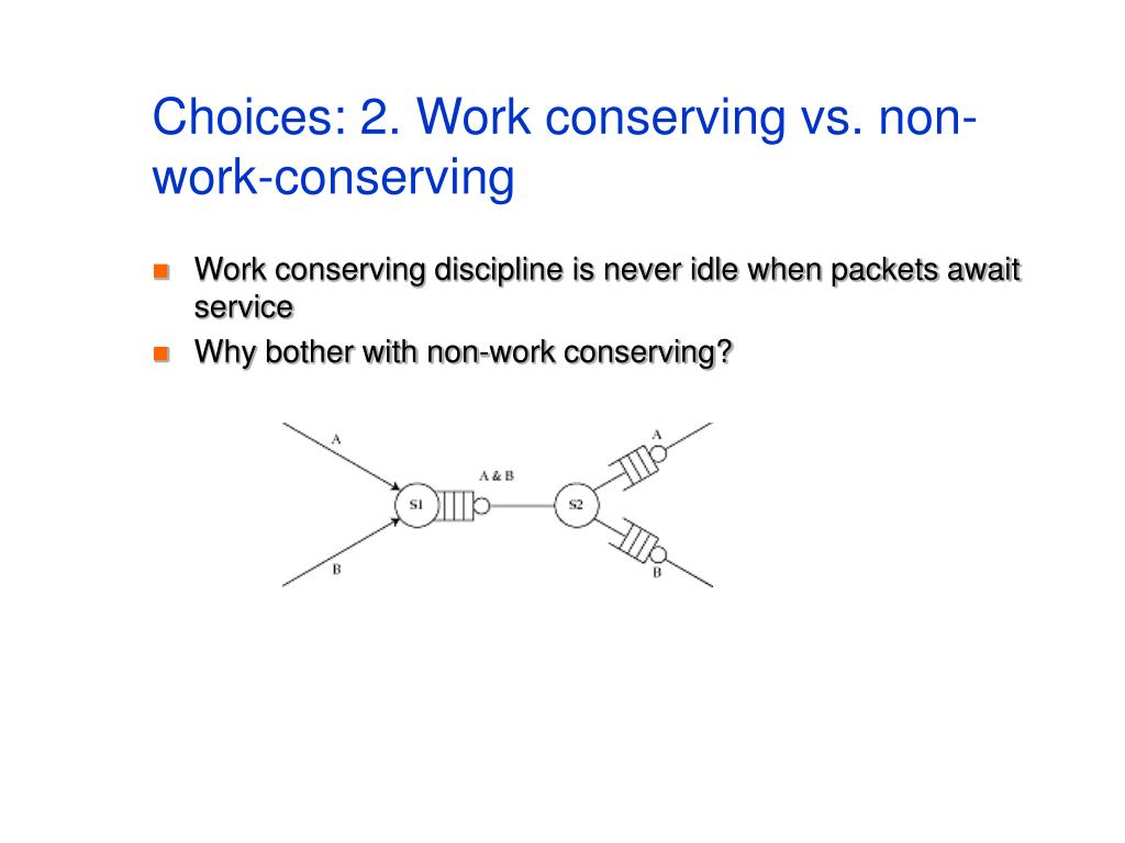 Choices: 2. Work conserving vs. non-work-conserving