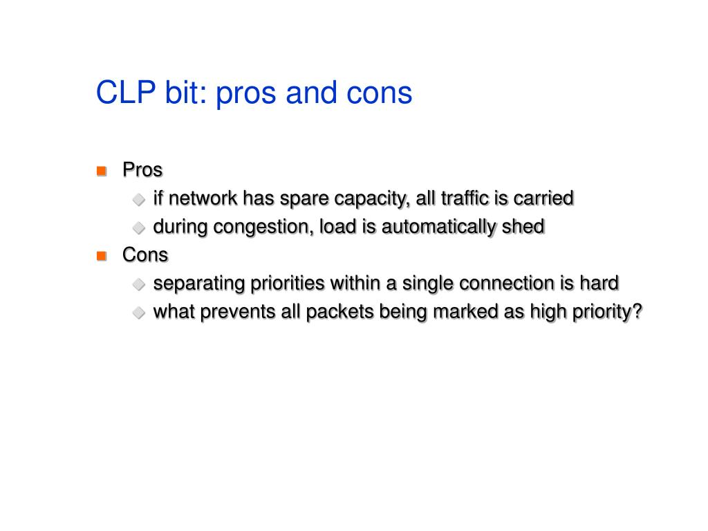 CLP bit: pros and cons