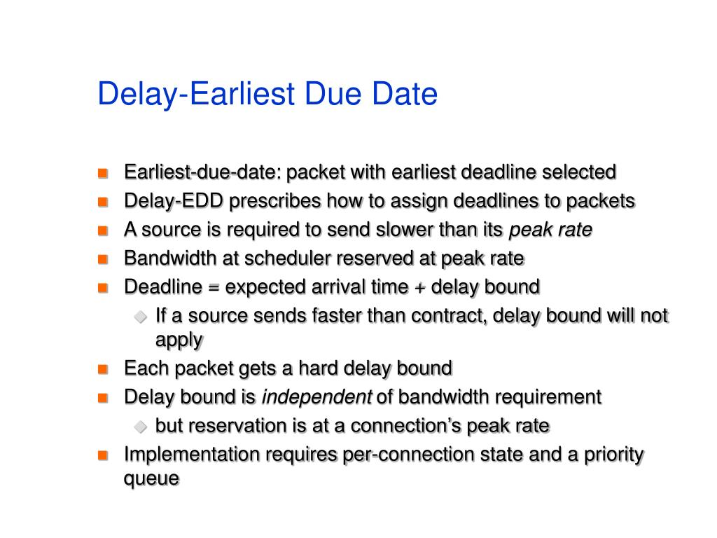 Delay-Earliest Due Date