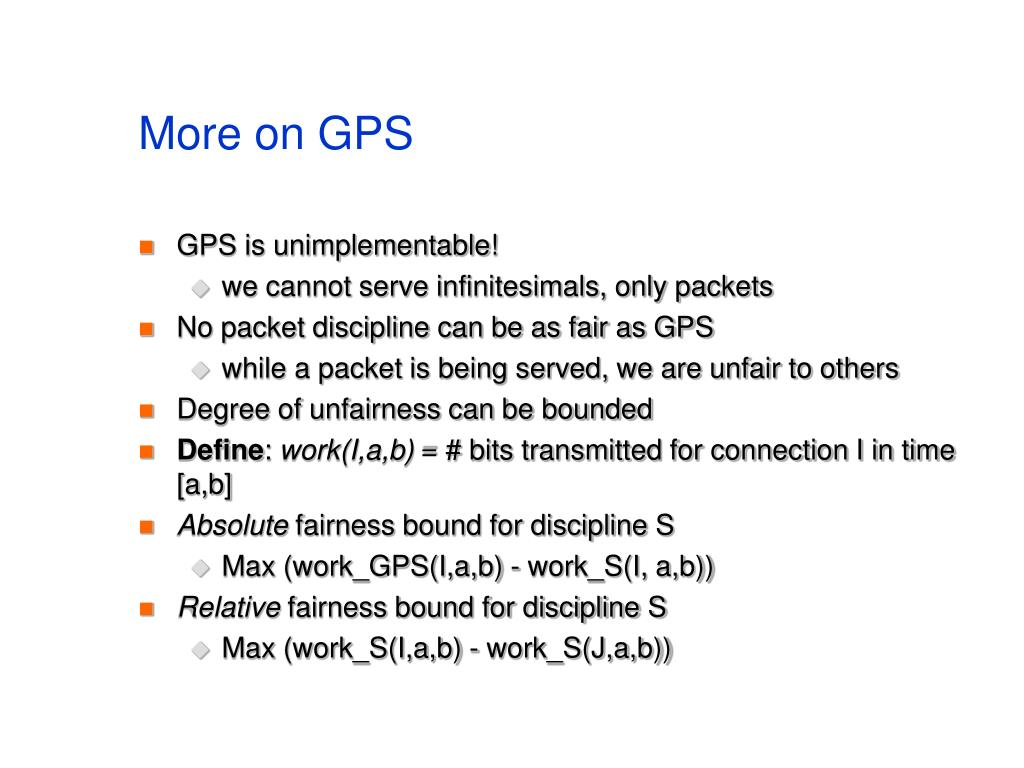 More on GPS