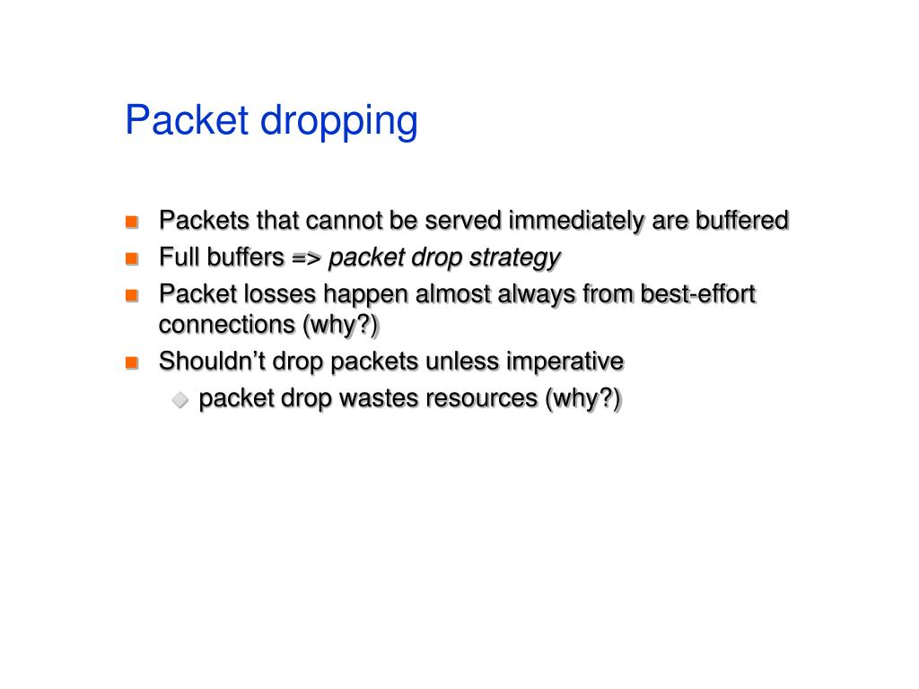 Packet dropping