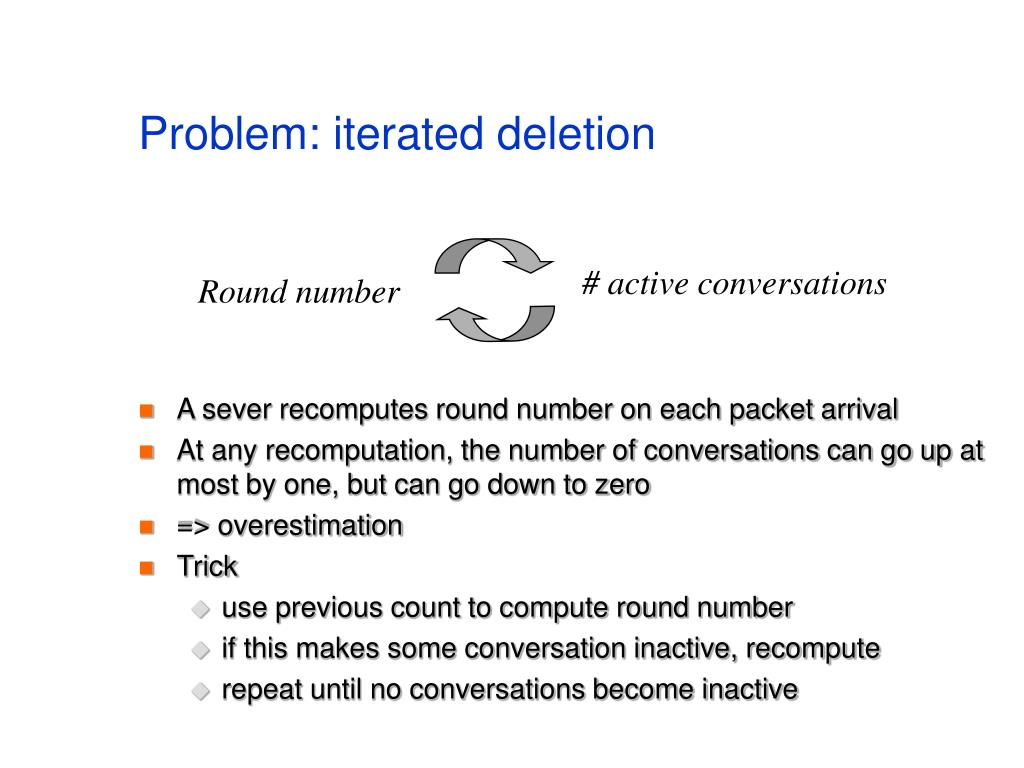 Problem: iterated deletion