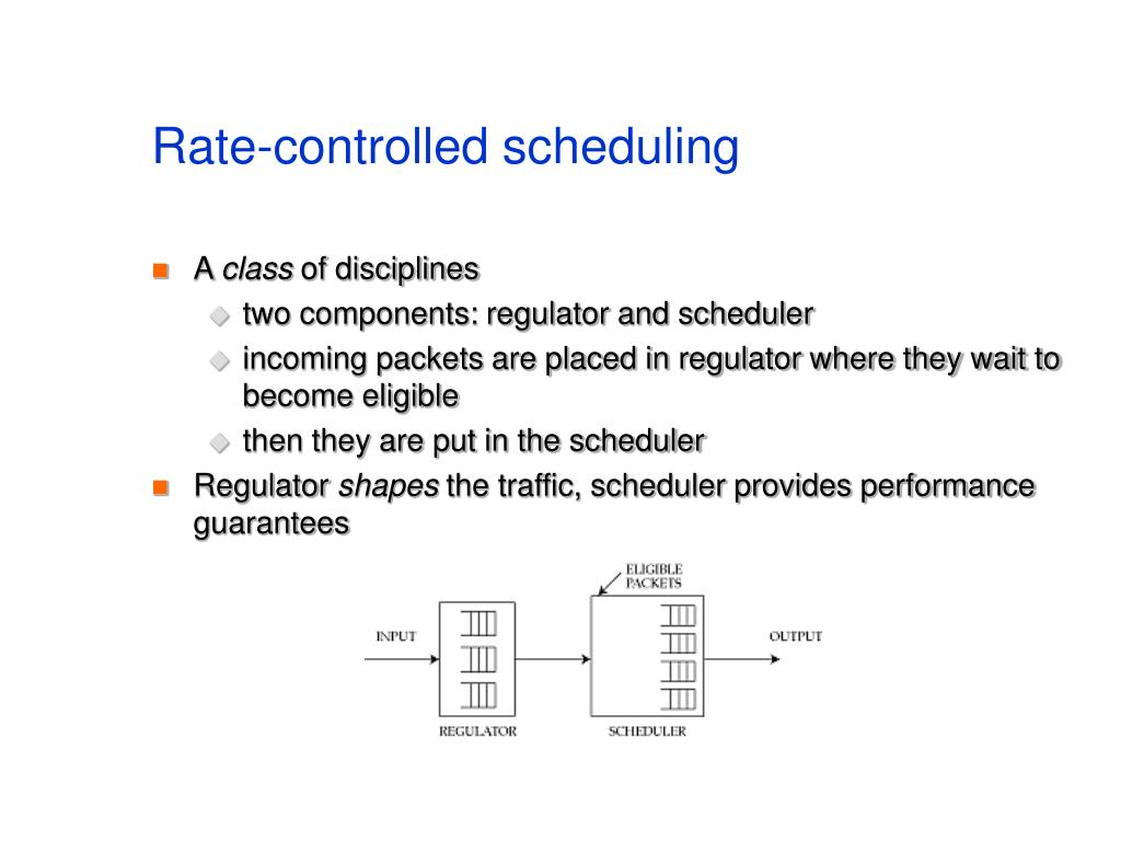 Rate-controlled scheduling