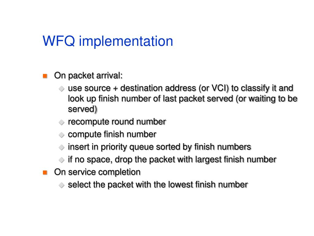 WFQ implementation