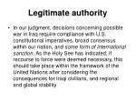 legitimate authority