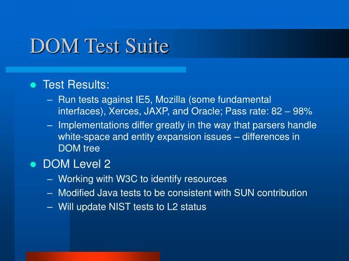 DOM Test Suite